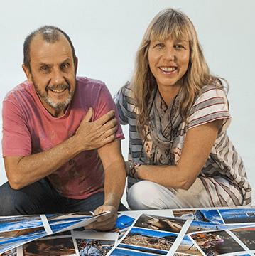 Fotógrafos Ita Kirsch e Bala Blauth